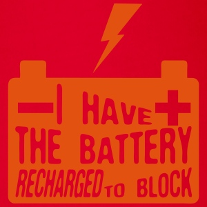 quote i have battery recharged block Camisetas - Body orgánico de maga corta para bebé