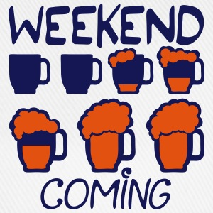 Weekend coming beer quote alcohol humor 5  Aprons - Baseball Cap