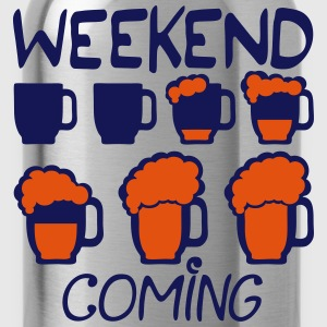 Weekend coming Birra alcol humor Magliette - Borraccia