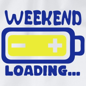 weekend_loading Zitat Batterieladung T-Shirts - Turnbeutel