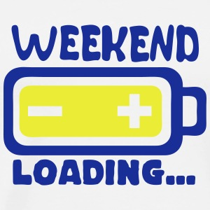 weekend loading citation pile charger Tabliers - T-shirt Premium Homme