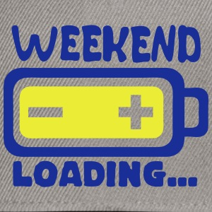 Weekend loading quote battery drums charger T-Shirts - Snapback Cap