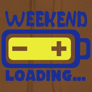 weekend_loading Zitat Batterieladung T-Shirts - Frauen Premium Hoodie