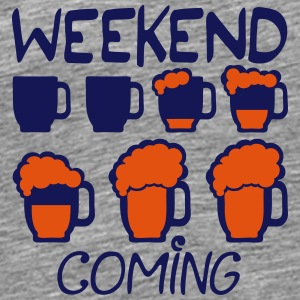 weekend coming biere citation alcool hu8 Vêtements de sport - T-shirt Premium Homme
