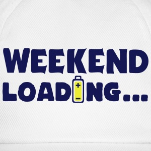 weekend_loading quote drums battery Tops - Baseball Cap