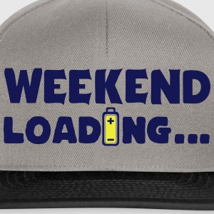 weekend_loading quote drums battery T-Shirts - Snapback Cap