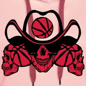 Basketball skull sign chain T-Shirts - Women's Premium Hoodie