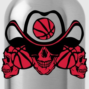 Basketball skull sign chain T-Shirts - Water Bottle