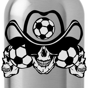 soccer Skull sign chain T-Shirts - Water Bottle