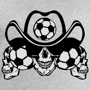 soccer Skull sign chain Long Sleeve Shirts - Men's Sweatshirt by Stanley & Stella