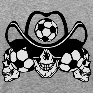 soccer Skull sign chain Long Sleeve Shirts - Men's Premium T-Shirt