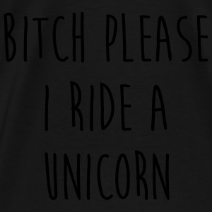 Ride A Unicorn Funny Quote Bags & Backpacks - Men's Premium T-Shirt