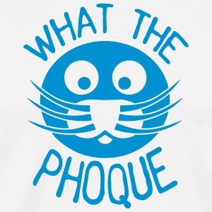 what_the_phoque seal quote insult  Aprons - Men's Premium T-Shirt