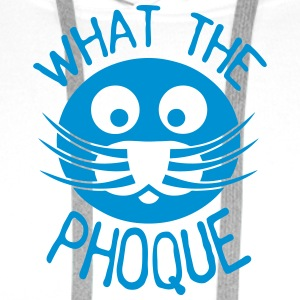 what the phoque citation insulte Vêtements de sport - Sweat-shirt à capuche Premium pour hommes