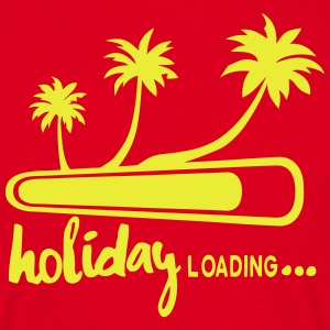 holiday loading citation palmier vacance Tabliers - T-shirt Homme
