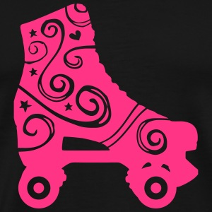 skates decorated 1c 2 / rollerskates Sweatshirts - Herre premium T-shirt