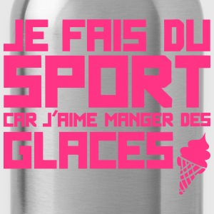 aime manger glaces citation sport humour Tee shirts - Gourde