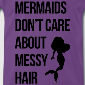 Mermaids Messy Hair Funny Quote Débardeurs - T-shirt Premium Homme