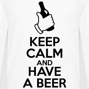 Keep calm and have a beer  - Männer Premium Langarmshirt