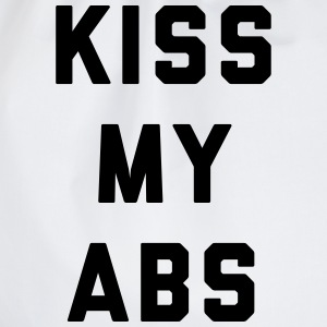 Kiss My Abs Funny Gym Quote Tee shirts - Sac de sport léger
