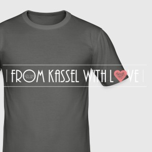 From Kassel With Love_Jute - Männer Slim Fit T-Shirt