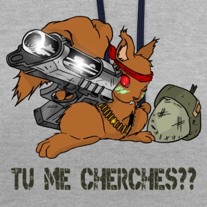 Tu me cherches?? - Sweat-shirt contraste