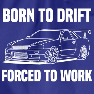 born to drift white Shirts - Drawstring Bag