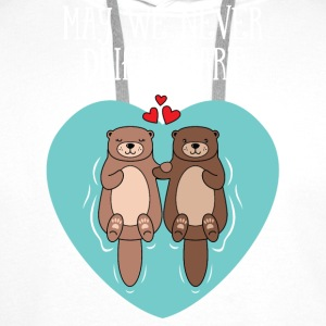 Cute Otter Couple | May We Never Drift Apart Langarmshirts - Männer Premium Hoodie