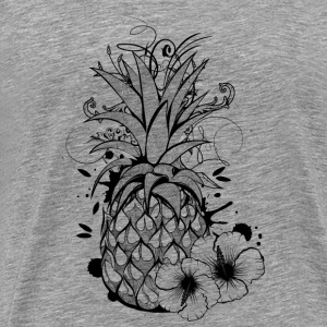 Pineapple with hibiscus blossom Other - Men's Premium T-Shirt