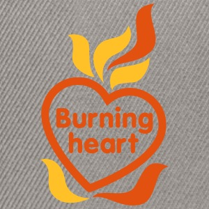 Burning heart - Snapback Cap