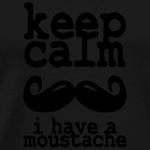keep calm i have  a moustache Sportsklær - Premium T-skjorte for menn