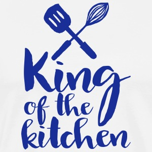 king of the kitchen  Aprons - Men's Premium T-Shirt