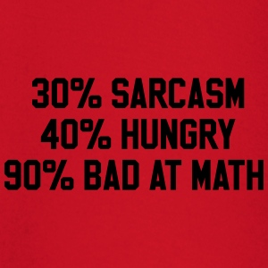40% sarcasm 40% hungry 90% bad at math T-Shirts - Baby Long Sleeve T-Shirt