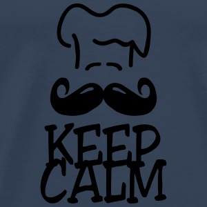 keep calm chef Tops - Mannen Premium T-shirt