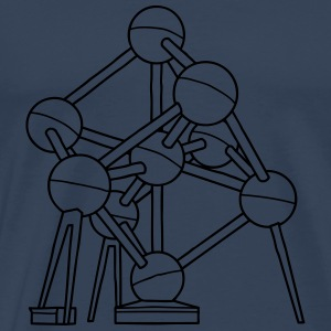 Atomium in Brussels Long Sleeve Shirts - Men's Premium T-Shirt