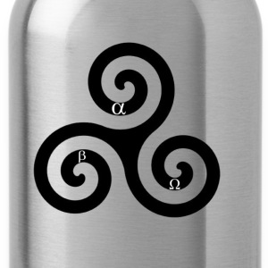 alpha beta omega triskelion - Water Bottle