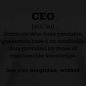 CEO - wizard Mugs & Drinkware - Men's Premium T-Shirt