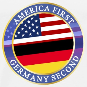 AMERICA FIRST GERMANY SECOND Tops - Männer Premium T-Shirt