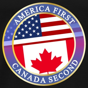 AMERICA FIRST CANADA SECOND Baby Bodys - Männer Premium T-Shirt