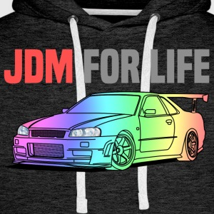 JDM for Life T-Shirts - Men's Premium Hoodie