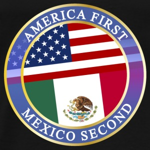 AMERICA FIRST MEXICO SECOND Baby Bodys - Männer Premium T-Shirt