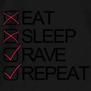 Eat Sleep Rave Repeat Shuffel Techno Festivals Pullover & Hoodies - Männer Premium T-Shirt