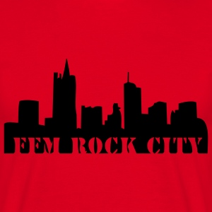 ffm rock city rot - Männer T-Shirt