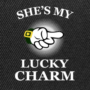 she's my lucky charm Mugs & Drinkware - Snapback Cap