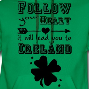 Ireland Heart T-Shirts - Men's Premium Hoodie