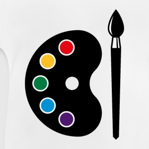 Colour Palette With Brush (Art / Artist / Painter) Shirts - Baby T-Shirt