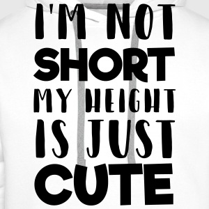 My height is cute T-Shirts - Männer Premium Hoodie