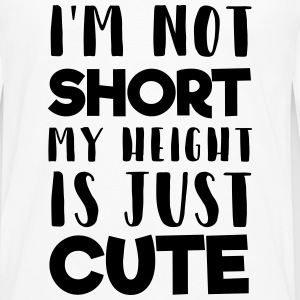 My height is cute T-Shirts - Männer Premium Langarmshirt