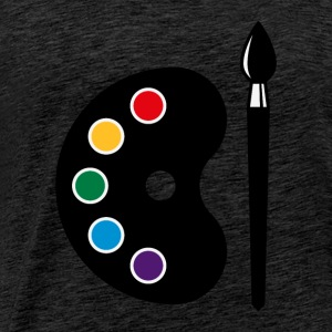 Colour Palette With Brush (Art / Artist / Painter) Tops - Men's Premium T-Shirt