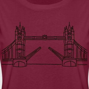 London Tower Bridge Förkläden - Oversize-T-shirt dam